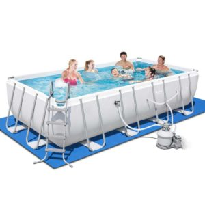 BW POOL SQ 56468 00 300x300 - Bestway Rectangular Frame Power Steel Above Ground Swimming Pool