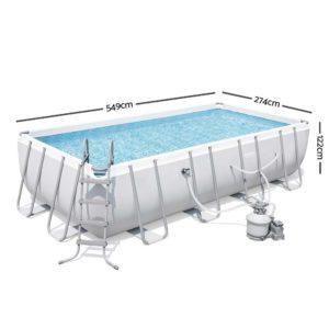 BW POOL SQ 56468 01 300x300 - Bestway Rectangular Frame Power Steel Above Ground Swimming Pool