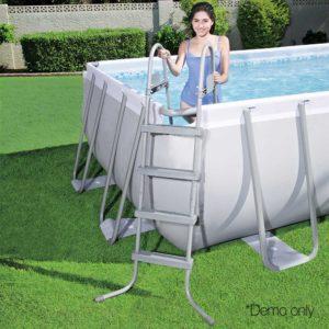 BW POOL SQ 56468 05 300x300 - Bestway Rectangular Frame Power Steel Above Ground Swimming Pool
