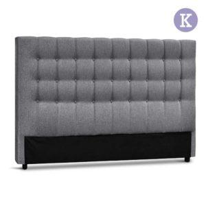 BFRAME E RAFT K LI GY 00 300x300 - Artiss King Size Upholstered Fabric Headboard - Grey