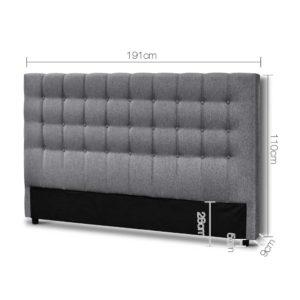 BFRAME E RAFT K LI GY 01 300x300 - Artiss King Size Upholstered Fabric Headboard - Grey