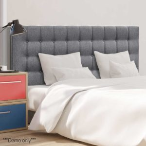 BFRAME E RAFT K LI GY 08 300x300 - Artiss King Size Upholstered Fabric Headboard - Grey
