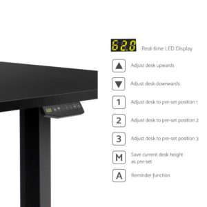 HASD 204 BKDF BKDB 150 04 300x300 - Artiss Electric Motorised Height-Adjustable Standing Desk Laptop 2-Motor 150cm