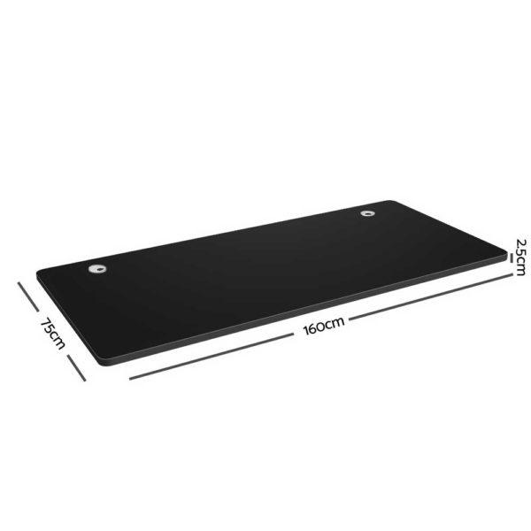 HASD 204 BKDF BKDB 160 02 600x600 - Artiss Electric Motorised Height Adjustable Standing Desk Laptop 2-Motor 160cm