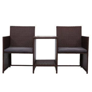 ODF LOVESEAT S BR 02 300x300 - Gardeon Outdoor Setting Wicker Loveseat Birstro Set Patio Garden Furniture Brown