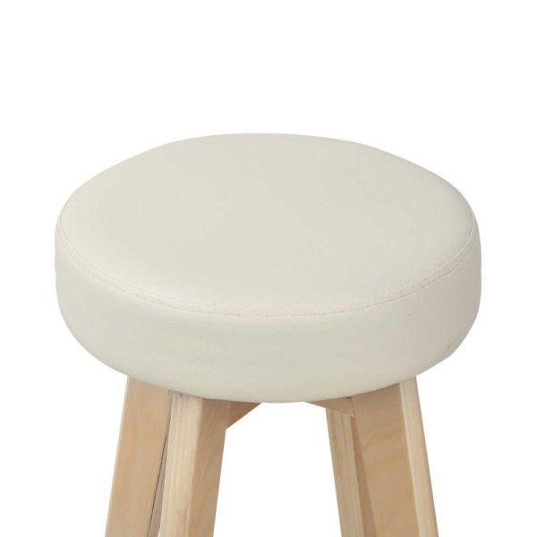 bent c 078a crx2 03 600x600 - Artiss 2x Kitchen Bar Stools Wooden Bar Stool Swivel Barstools Counter Chairs 74cm Leather Cream