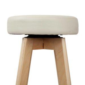 bent c 078a crx2 05 300x300 - Artiss 2x Kitchen Bar Stools Wooden Bar Stool Swivel Barstools Counter Chairs 74cm Leather Cream