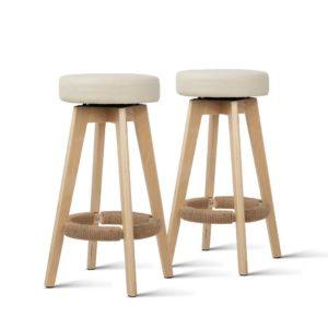 bent c 078a crx2 06 300x300 - Artiss 2x Kitchen Bar Stools Wooden Bar Stool Swivel Barstools Counter Chairs 74cm Leather Cream