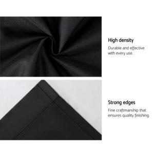CURTAIN HOOK D213X140 BK 06 300x300 - Art Queen 2 Pencil Pleat 140x213cm Blockout Curtains - Black