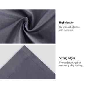 CURTAIN HOOK D213X140 DG 06 300x300 - Art Queen 2 Pencil Pleat 140x213cm Blockout Curtains - Dark Grey