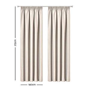 CURTAIN HOOK D213X140 SD 01 300x300 - Art Queen 2 Pencil Pleat 140x213cm Blockout Curtains - Sand