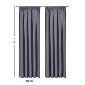 CURTAIN HOOK D213X180 DG 01 300x300 - Art Queen 2 Pencil Pleat 180x213cm Blockout Curtains - Dark Grey