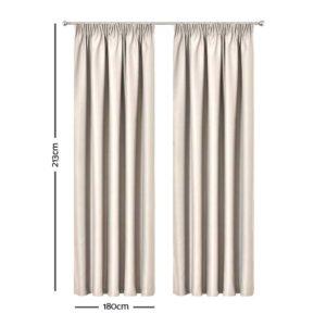 CURTAIN HOOK D213X180 SD 01 300x300 - Art Queen 2 Pencil Pleat 180x213cm Blockout Curtains - Sand