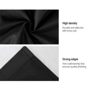 CURTAIN HOOK D213X240 BK 06 300x300 - Art Queen 2 Pencil Pleat 240x213cm Blockout Curtains - Black