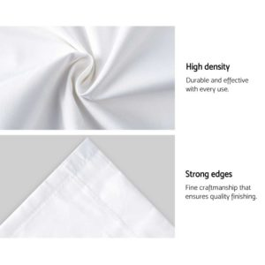 CURTAIN HOOK D230X140 WH 06 300x300 - Art Queen 2 Pencil Pleat 140x230cm Blockout Curtains - White