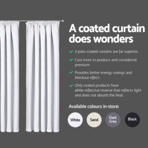 CURTAIN HOOK D230X240 WH 04 300x300 - Art Queen 2 Pencil Pleat 240x230cm Blockout Curtains - White