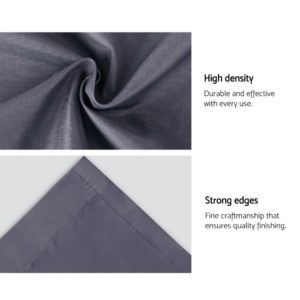 CURTAIN HOOK D230X300 DG 06 300x300 - Art Queen 2 Pencil Pleat 300x230cm Blockout Curtains - Dark Grey