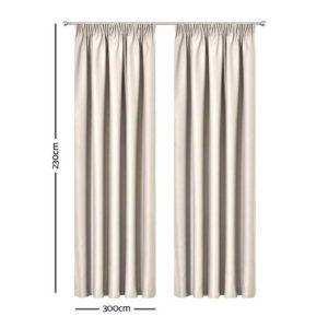 CURTAIN HOOK D230X300 SD 01 300x300 - Art Queen 2 Pencil Pleat 300x230cm Blockout Curtains - Sand