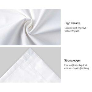 CURTAIN HOOK D230X300 WH 06 300x300 - Art Queen 2 Pencil Pleat 300x230cm Blockout Curtains - White