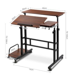 la desk sd dw 01 300x300 - Mobile Twin Laptop Desk - Dark Wood