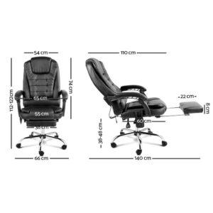moc 9mj bk combo 01 300x300 - 8 Point Reclining Message Chair - Black