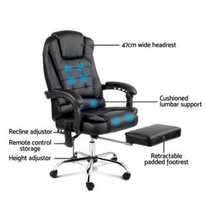 moc 9mj bk combo 03 300x300 - 8 Point Reclining Message Chair - Black