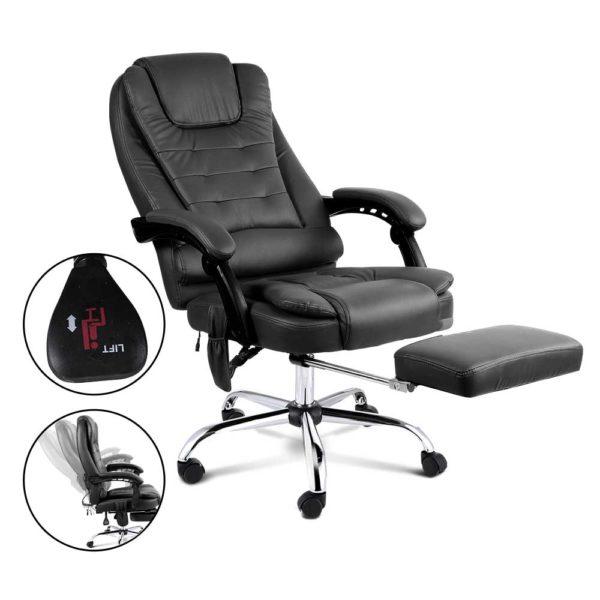 moc 9mj bk combo 04 600x600 - 8 Point Reclining Message Chair - Black