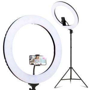 "RL FL 006 BK LV 00 300x300 - 19"" LED Ring Light 6500K 5800LM Dimmable Diva With Stand Make Up Studio Video"