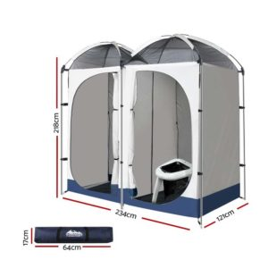 CAMP TOILET EPOT CR DOU 01 300x300 - WEISSHORN Double Camping Shower Tent Portable Toilet Outdoor Change Room Ensuite