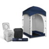 CAMP TOILET 20L T FC CR SIN 00 100x100 - WEISSHORN Double Camping Shower Tent Portable Toilet Outdoor Change Room Ensuite