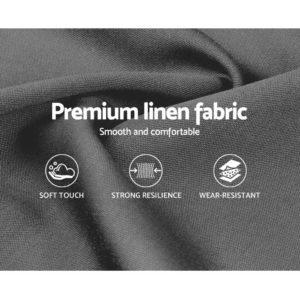 BFRAME E LUCA K GY 05 300x300 - Artiss LUCA King Size Bed Head Headboard Bedhead Leather Base Frame
