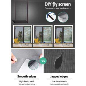 FLSC 104H 1221S BR 04 300x300 - Instahut Retractable Magnetic Fly Screen Flyscreen Door Mesh Sliding 1.2m x 2.1m Brown