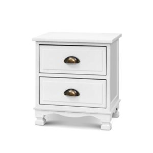 ST CAB B 2D WHX2 00 300x300 - 2x Artiss Bedside Tables Drawers Side Table Nightstand Vintage Storage Cabinet