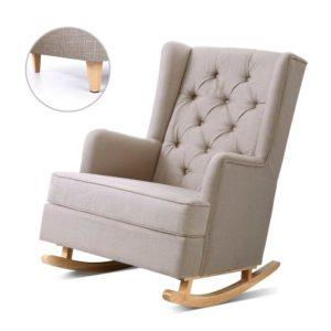 UPHO C AVAN KD BG AB 00 300x300 - Artiss Rocking Armchair Feedining Chair Fabric Armchairs Lounge Recliner Beige