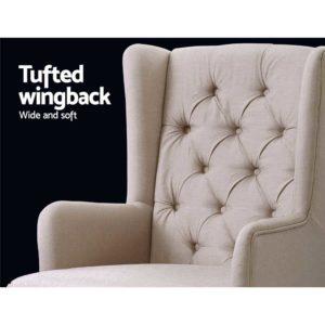 UPHO C AVAN KD BG AB 06 300x300 - Artiss Rocking Armchair Feedining Chair Fabric Armchairs Lounge Recliner Beige