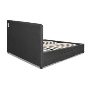 BFRAME F AVIO D CHA ABC 05 300x300 - Artiss Double Size Fabric Bed Frame Headboard with Drawers  - Charcoal