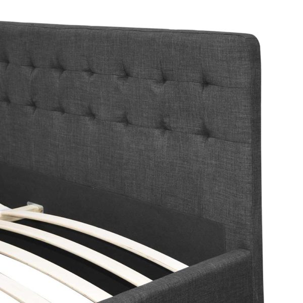 BFRAME F AVIO D CHA ABC 07 600x600 - Artiss Double Size Fabric Bed Frame Headboard with Drawers  - Charcoal