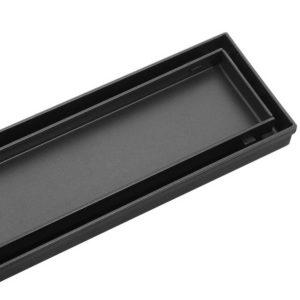SSG INSERT 800 BK 00 300x300 - Cefito Stainless Steel Shower Grate Tile Insert Bathroom Floor Drain Liner 800MM Black