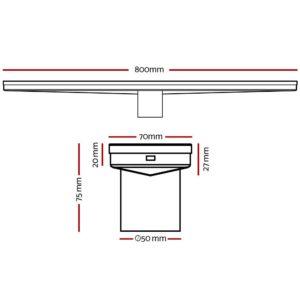 SSG INSERT 800 BK 01 300x300 - Cefito Stainless Steel Shower Grate Tile Insert Bathroom Floor Drain Liner 800MM Black