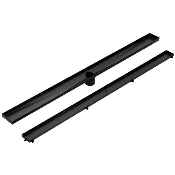 SSG INSERT 800 BK 02 600x600 - Cefito Stainless Steel Shower Grate Tile Insert Bathroom Floor Drain Liner 800MM Black