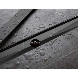SSG INSERT 800 BK 07 300x300 - Cefito Stainless Steel Shower Grate Tile Insert Bathroom Floor Drain Liner 800MM Black