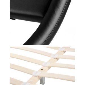 BFRAME F FLIO K BK AB 05 300x300 - Artiss King Size PU Leather Bed Frame - Black