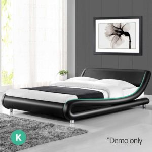 BFRAME F FLIO K BK AB 06 300x300 - Artiss King Size PU Leather Bed Frame - Black