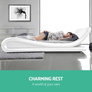 BFRAME F FLIO K WH AB 03 300x300 - Artiss King Size PU Leather Bed Frame - White