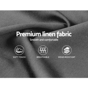 BFRAME F TIYO Q GY ABC 05 300x300 - Artiss TIYO Queen Size Gas Lift Bed Frame Base With Storage Mattress Grey Fabric