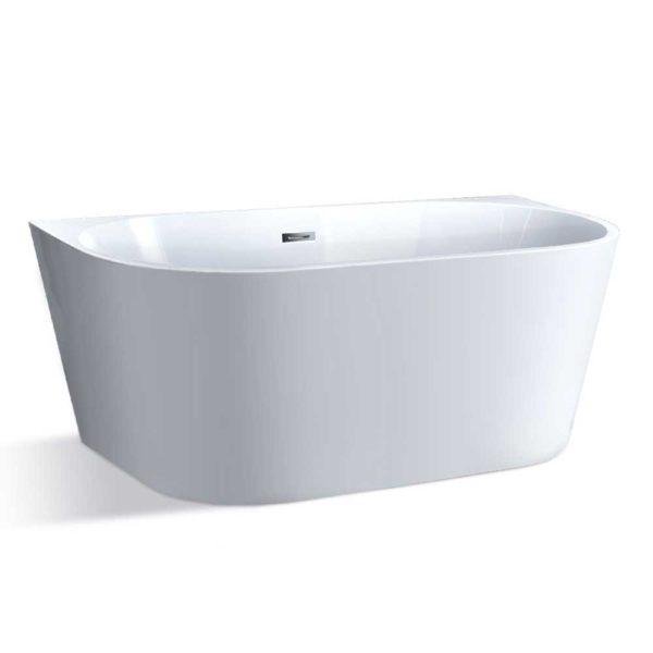 BT BW RO M 1507558 00 600x600 - Cefito Free Standing Bath Tubs Acrylic Bathroom Back To Wall SPA Tub 150x75x58CM