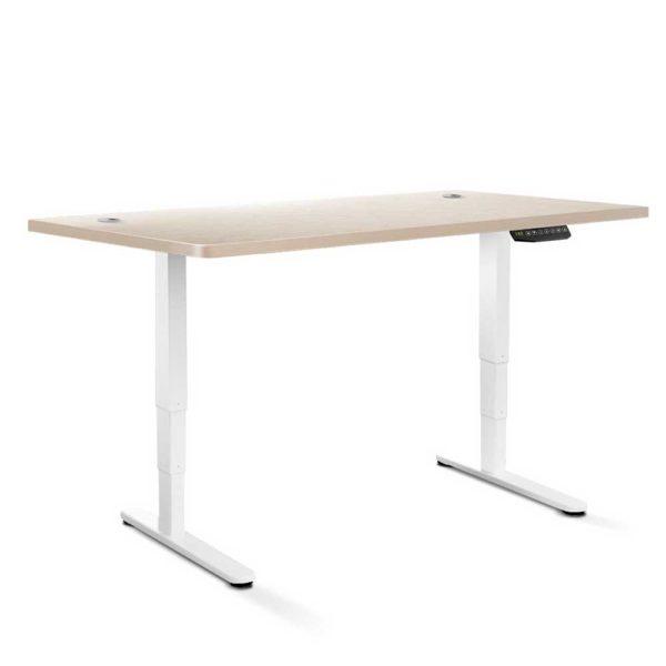 HASD 204 WHDF WODB 160 00 600x600 - Artiss Height Adjustable Standing Desk Sit Stand Motorised Electric Roskos III White White Oak