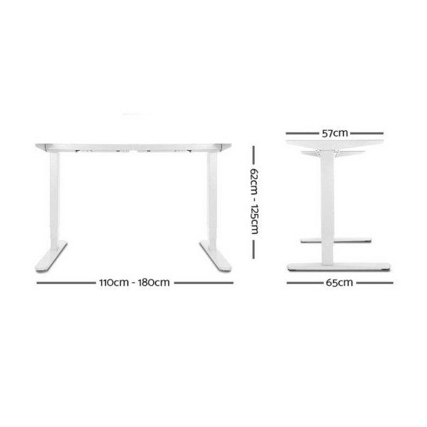 HASD 204 WHDF WODB 160 01 600x600 - Artiss Height Adjustable Standing Desk Sit Stand Motorised Electric Roskos III White White Oak