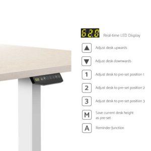 HASD 204 WHDF WODB 160 04 300x300 - Artiss Height Adjustable Standing Desk Sit Stand Motorised Electric Roskos III White White Oak
