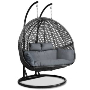 HM EGG TAT D BKGR AB 00 300x300 - Gardeon Outdoor Double Hanging Swing Chair - Black